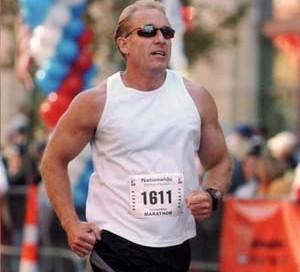 David Hooie Running in 5K Run.