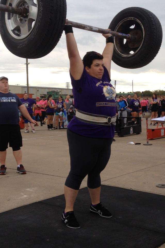Competitor In Strongwoman Nationals.