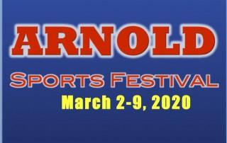 Arnold Weekend Flyer Logo 2020