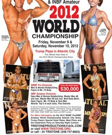 2012 WNBF & INBF World Championships Flyer.