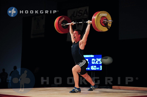Male Lifting Weight Over Head.