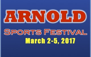 Arnold Weekend Flyer Logo 2017