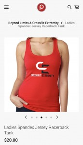 Women's Spandex Red Tank